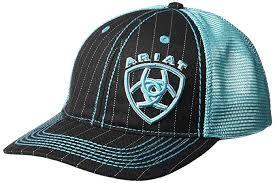 Ariat Cowboy Hat Size Chart Ariat Mens Black Aqua Shine Mesh Snap Back Hat