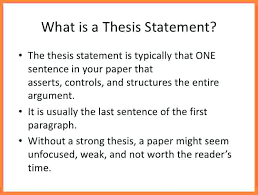 an example of a thesis statement in an essay an example of a  an