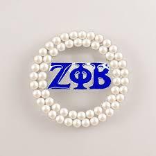 drop shipping zeta phi beta sorority pearl pin zpb brooch jewelry