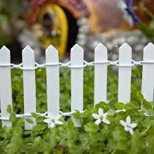 white picket fence. White Picket Fence \u2013 Miniature Fairy Garden B