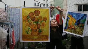 reproducing works by famous artists is big business and for more than 20 years dafen oil painting village in southern china has been at the centre of the
