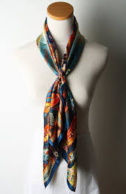 Designer Square Silk Scarves