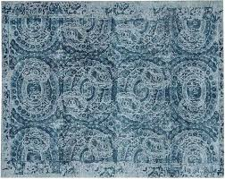 post pottery barn adeline rug wool rugs blue knot tufted
