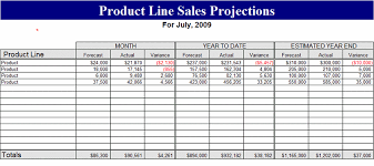 Sales Projection Format In Excel Price Line Sales Projections For Excel 2007 Or Newer Forecasts