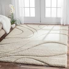plush bedroom rugs. Brilliant Plush NuLOOM Soft And Plush Curves Ivory Beige Shag Area Rug  Overstockcom  Shopping Throughout Bedroom Rugs D