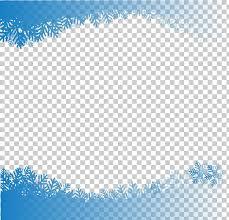 Snowflake Computer File Hand Painted Snowflake Border Blue