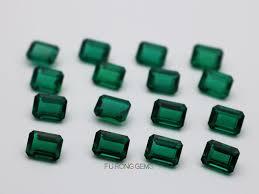 Hd Video Of Lab Created Emerald Green Gemstones