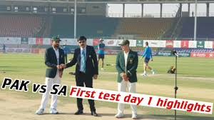 South Africa vs Pakistan 1st test day 1 ...