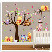 projects design winnie the pooh wall art home decor paints lovely stickers white with brown classic e