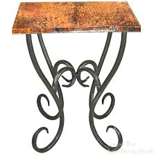 wrought iron glass dining table wrought iron and glass end tables wood and wrought iron end