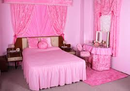Bright Pink Paint Bedroom Including Light Pink Girl Computer Desk And Light Pink