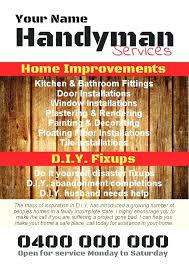 Handyman Flyer Template Classy Free Handyman Flyer Template Best Template Ideas