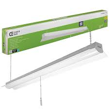 Led Shop Lights Commercial Electric 4 Ft 64 Watt Equivalent White Integrated Led Shop Light 4000k Bright White 3200 Lumens Linkable 5 Ft Cord Included