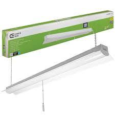Feit 4 Linkable Led Shop Light Commercial Electric 4 Ft 64 Watt Equivalent White Integrated Led Shop Light 4000k Bright White 3200 Lumens Linkable 5 Ft Cord Included