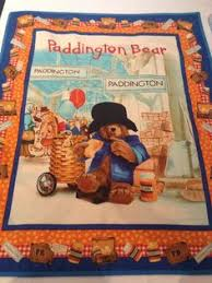 Paddington Bear ABC's Crossword Puzzle on Blue Cotton Fabric by ... & Paddington Bear baby quilt Adamdwight.com