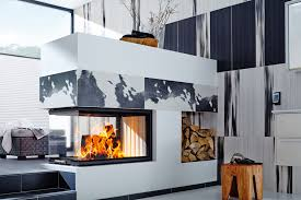 3 side fireplace ideas