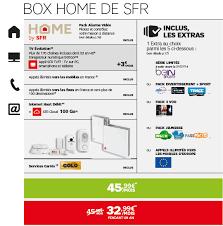 tarifs box home de sfr box home de sfr pack