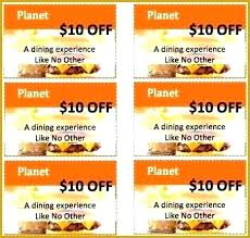 10 Off Coupon Template Free Meal Coupon Template