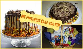diy easy birthday cake for him birthday gift basket