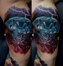 фото тату реалистичный алмаз и молния татуировки и эскизы предметы