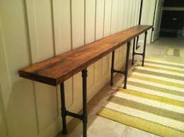 Pipe Furniture Black Iron Pipe Reclaimed Wood Bench 30000 Via Etsy I Feel