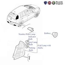 Fiat Grande Punto Tail Lamp And Bulbs