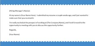 Outstanding Examples Of Follow Up Letters After Sending Resume 25