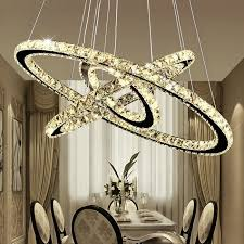 chic modern minimalist american style led crystal chandelier light hanging ceiling pendant lamp for living