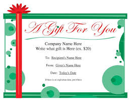 Shopping Spree Gift Certificate Template Powerpoint Gift Certificate Template Christmas