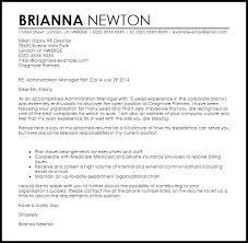 Administration Manager Cover Letter Sample Livecareer