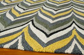 yellow and gray geo zig zag rug yellow and gray rugs uk