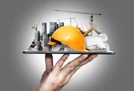 Innovative architecture and civil engineering plan Greater commercial and  investment center it is the center of offices, banks, residences, Future  building construction engineering project. Innovative architecture and civil  engineering plan Construction site ...