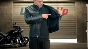 xelement men s grey striped black leather jacket at leatherup