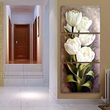 modern wall painting 3 panel flower oil painting printed canvas modern paint ideas for living room