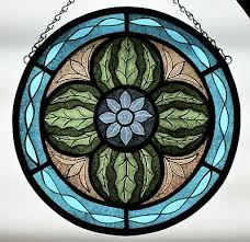 pre 1900 hand painted stained glass