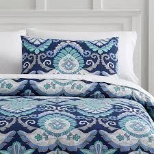 navy blue patterned sheets
