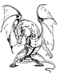 Giant Dragon Dragons Adult Coloring Pages