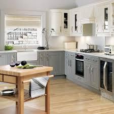 image of white l shaped kitchen ideas