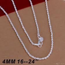 2019 hot ing 925 sterling silver necklaces jewelry twist rope chain necklace 4mm 16inch 18inch 20inch 22inch 24inch from fashionfist 1 97 dhgate com