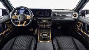 Brabus leather nappa cuoio brown brabus are celebrating their 40th anniversary in style with the release of the €666,000 one of ten g class 900; Brabus Goes Black And Gold With Mercedes Amg G63