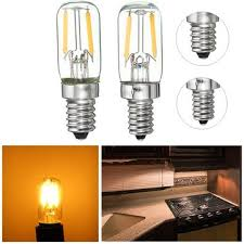 refrigerator light bulb. dimmable e12/e14 1w mini cob led refrigerator fridge freezer filament light bulb