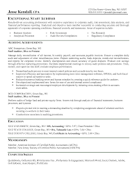 Resume Templates Staff Accountant Sample Senior Example Auditor