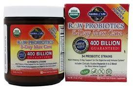 garden of eden probiotics. Garden Of Life - Raw Probiotics 5-Day Max Care 34 Probiotic Strains 400 Billion Eden C