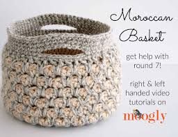 Free Crochet Basket Patterns Cool Moroccan Basket Video Tutorial Moogly