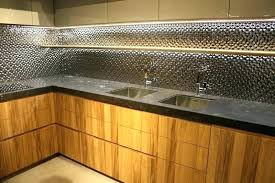 Backsplash Lighting Beauteous All Things Led Wood Cabinets And Stainless Steel Backsplash Panels