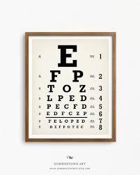 Snellen Chart Printable Eyechart Art Print Digital Download Snellen Eye Chart Poster Printable Optometrist Gift Oculist Chart Optician Wall Art Optometry Decor