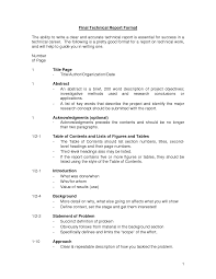 Technical Report Writing  Format of Final year project     s thesis  Millicent Rogers Museum cover letter