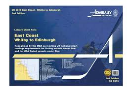 Chart Folio System Of The Ship Sc5615 Admiralty East Coast Whitby To Edinburgh Leisure Chart Folio