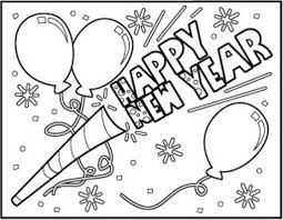 2019 coloring page from happy new year category. Printable New Year 2018 Coloring Pages