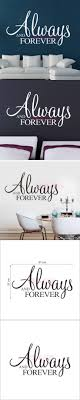 sun wall decal trendy designs: always and forever vinyl wall sticker inspiring saying wallpaper for living room wall decal wall art